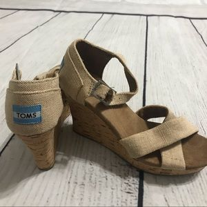 TOMS Cork Wedge Shoes